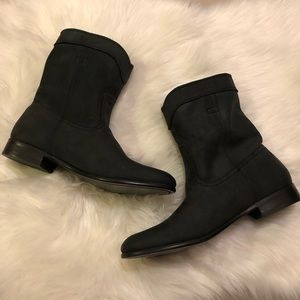 Frye Shoes - FRYE Cara Roper Black Leather Riding Boots Size 9